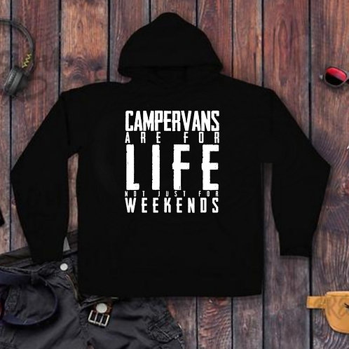 'Campervans are for life not just for weekends' Unisex Hoodie