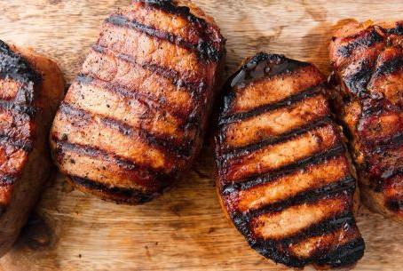 Easy honey soy grilled pork chops