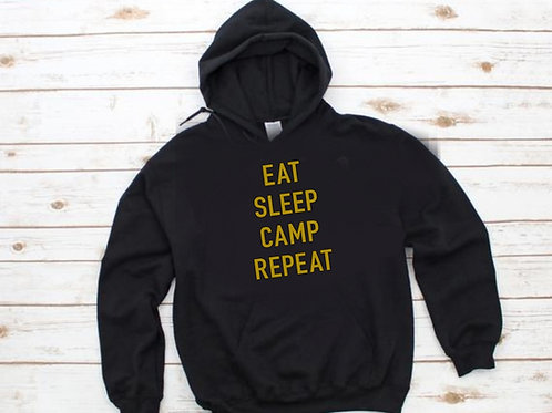 Eat, sleep, camp repeat Unisex Hoodie