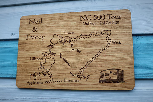 Personalised NC500 Oak Veneer Wall Plaque