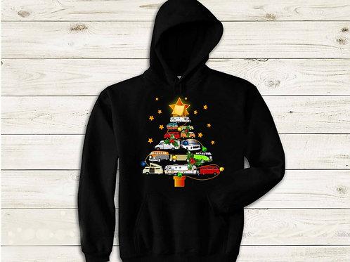 Campervan Christmas Tree Hoodie