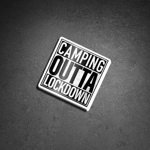 Camping Outta Lockdown External Sticker