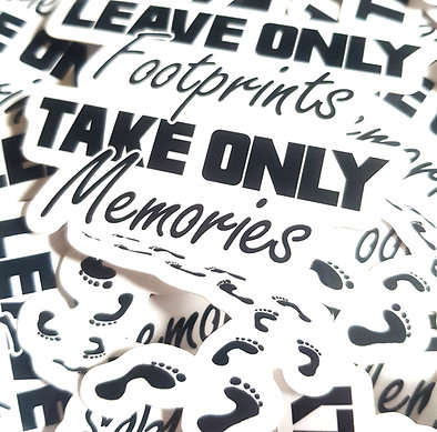 Leave Only Footprints, Take Only Memories Sticker