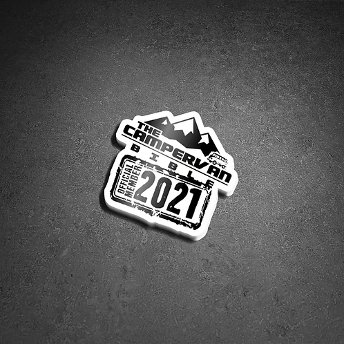 The Campervan Bible Official Member 2021 Sticker