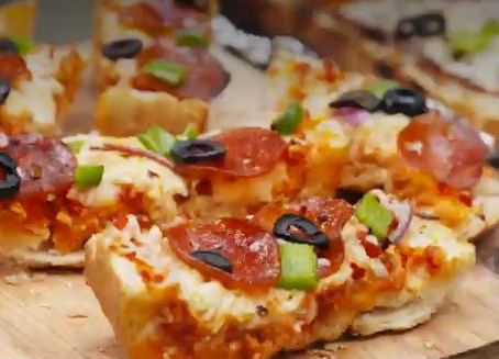 Grilled Pizza Bread Foil Packs