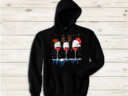 Christmas Wine Hoodie