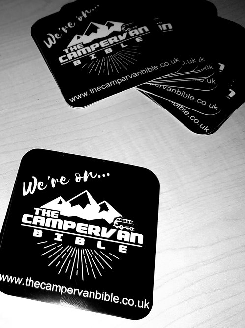 'We're on The Campervan Bible' Sticker
