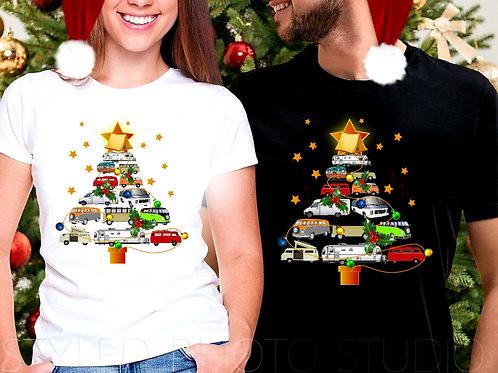 Campervan Christmas Tree T-Shirt