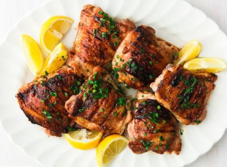 Honey Balsamic Grilled Chicken Thighs