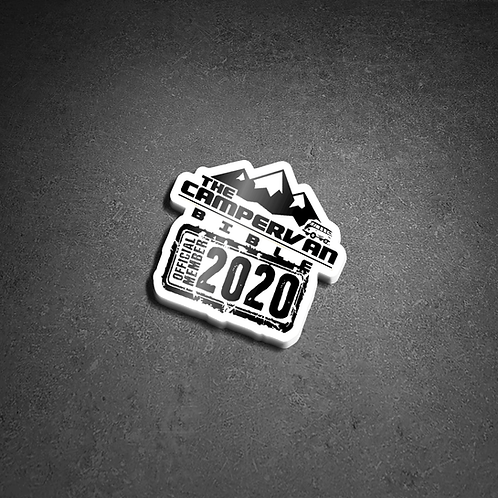 The Campervan Bible Official Member 2020 Sticker