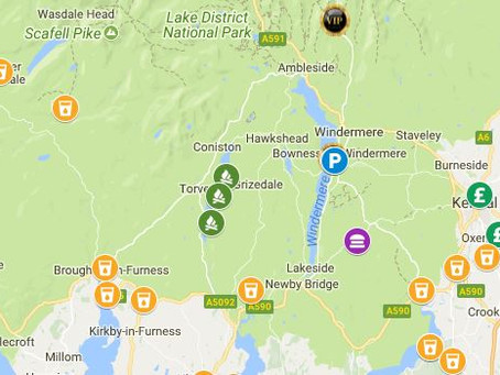 The south lakes - Some of our stops!