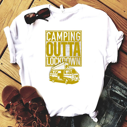 Camping Outta Lockdown with camper Unisex T-Shirt/hoodie