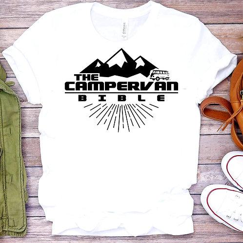 The Campervan Bible Official T-shirt (Large Design)