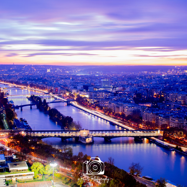 1. Night View From the Eiffel Tower