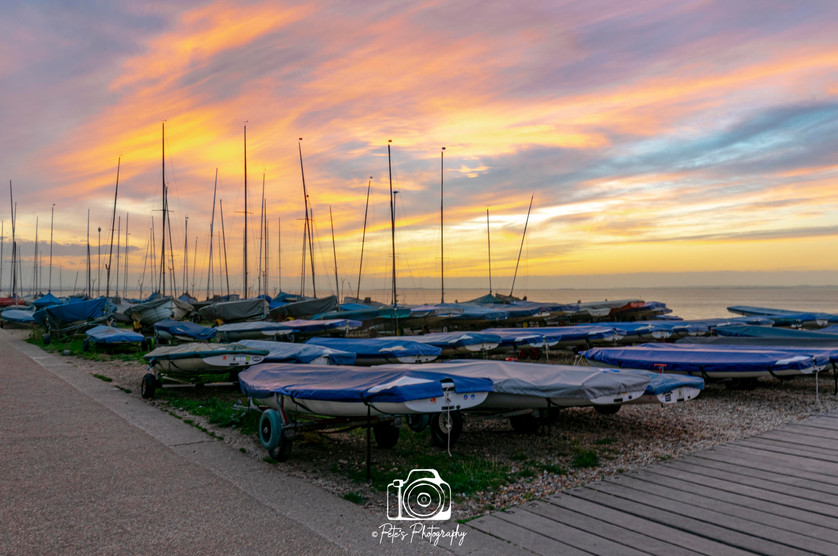 Whitstable Boats Sunset