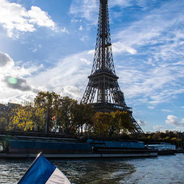 View of the Eiffell Tower from the river