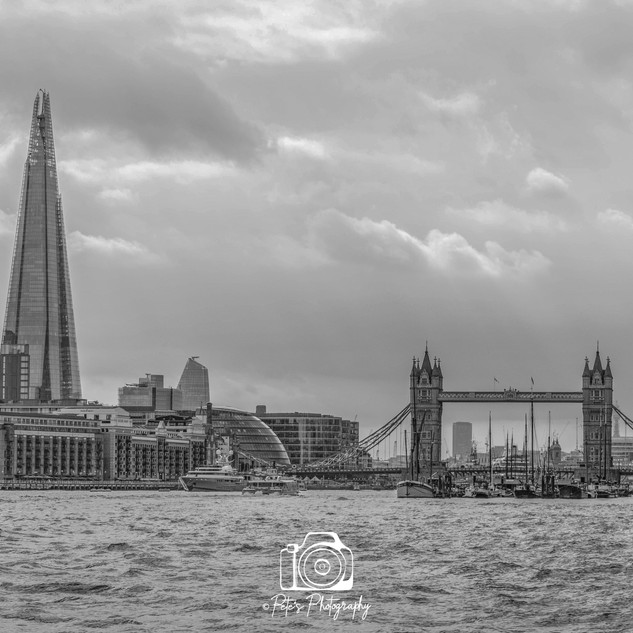 The Shard & Tower Bridge Black & White