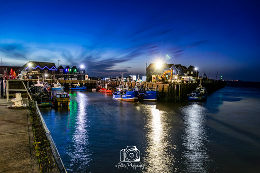 Whitstable Harbour Night Glow