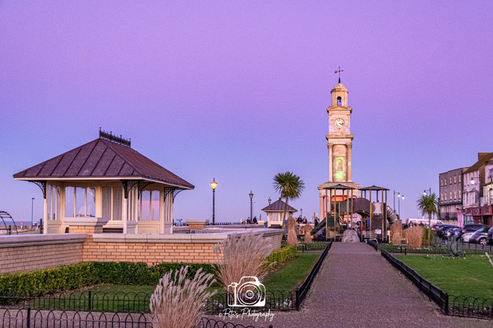 Clock Tower On The Promenade