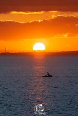 Kayaking Into The Sunset Portrait