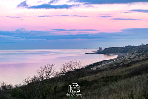 Calm and Reflective Reculver Towers