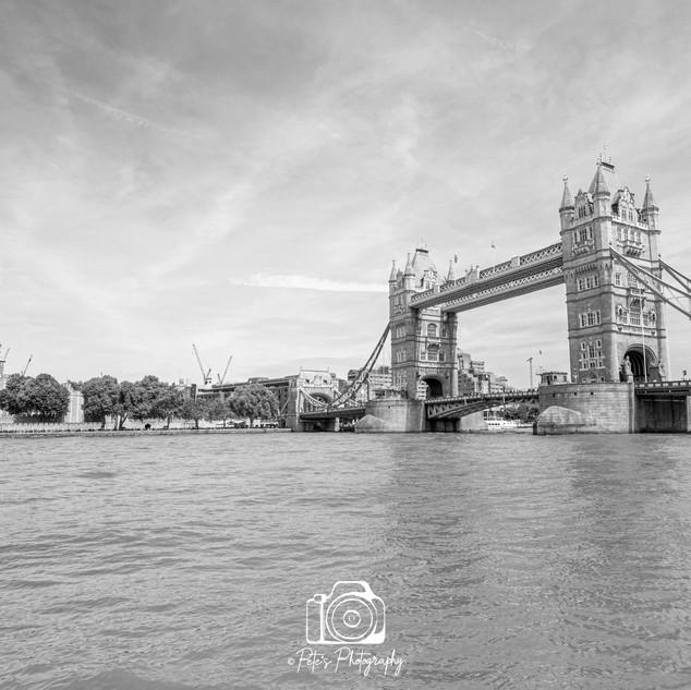 Tower Bridge & Tower Of London B&W