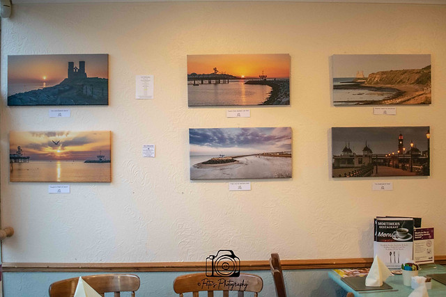 Canvases on display @ Mortimers Restaurant