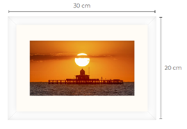 Pier Head Sunset White Framed Print 30 x 20 cm