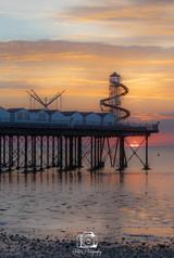 Pier Sunset Portrait