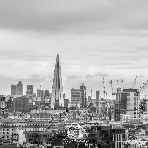 London Skyline Black & White