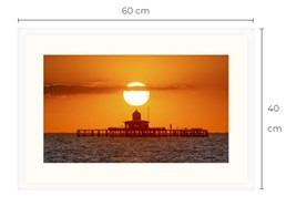 Pier Head Sunset White Framed Print 60 x 40 cm