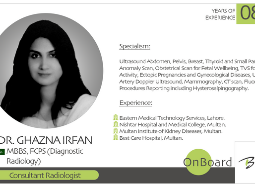 OnBoard | Dr. Ghazna Irfan | Consultant Radiologist