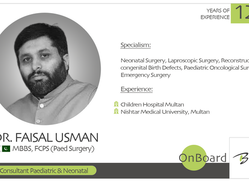 OnBoard | Dr. Syed Faisal Usman | Consultant Pediatric and Neonatal