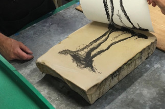 Stone lithography 'Preserve' with Charles Cohan