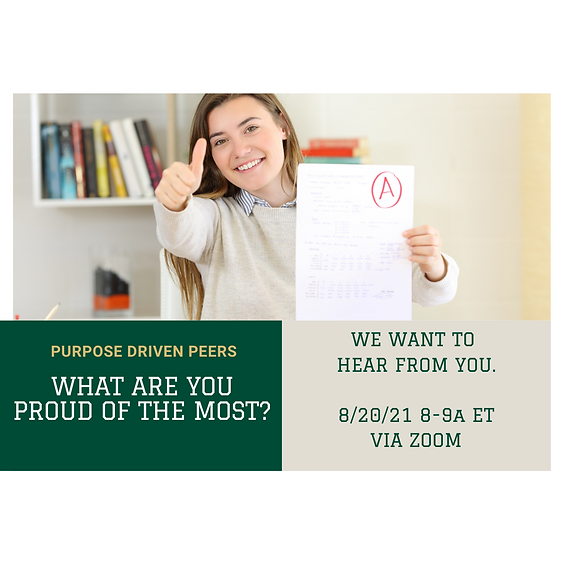 What Are You Proud of The Most?