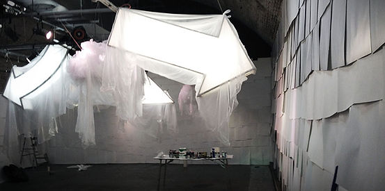 set design london - Darling and Edge - the vaults gallery - more is more