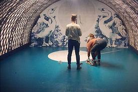 set design london - Darling and Edge - the Vaults - Christmas 2015