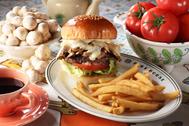 Mozzarella Mushroom Burger