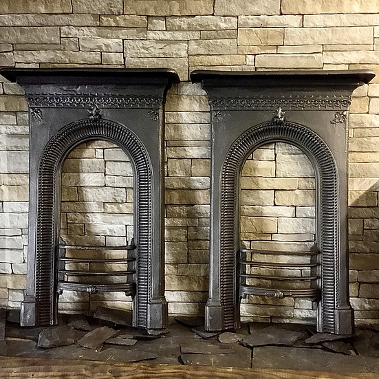 Pair of Victorian Bedroom Cast Iron Surrounds