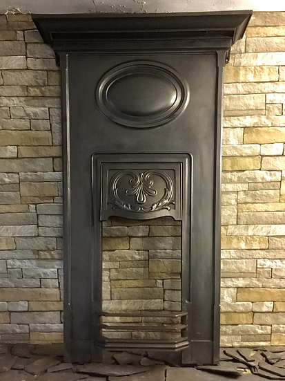 Art Nouveau Cast Iron Bedroom Fireplace