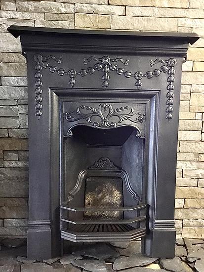 Edwardian Cast Iron Bedroom Fireplace
