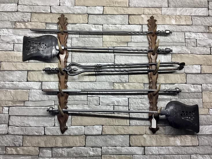 Black Forrest Oak and Horn Multiuse Display Hanger