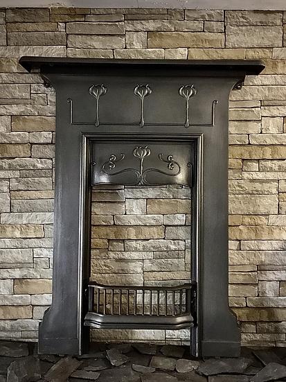 Art Nouveau Cast Iron Surround