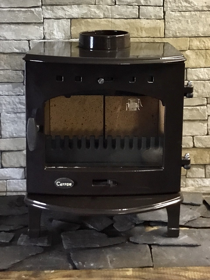 Carron 4.7kw Cast Iron Multi Fuel Stove in Brown Enamel