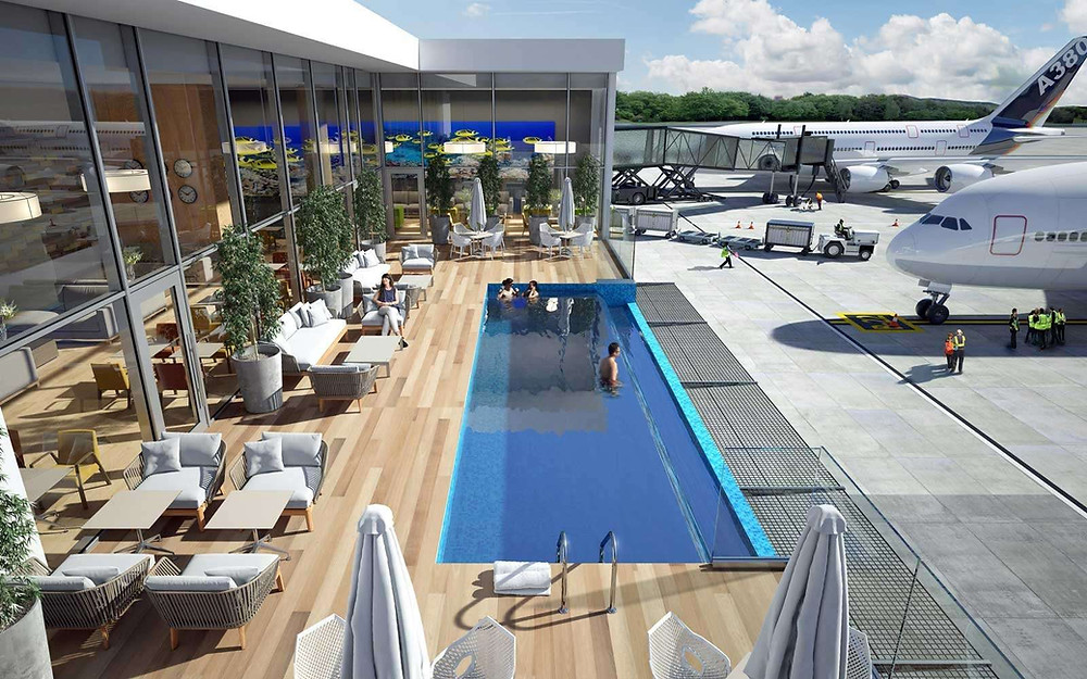 Singapore's Changi Airport Swimming Pool