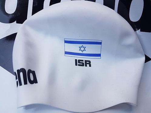 Team Israel arena Swim Cap - White