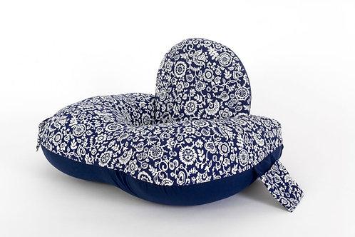 מאמאסיטה כרית הנקה - ליחיד כחול לבן פרחוני