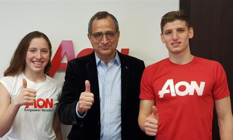 AON Israel adopted two young swimmers