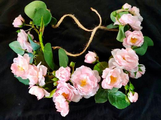 Tocado flores artificiales