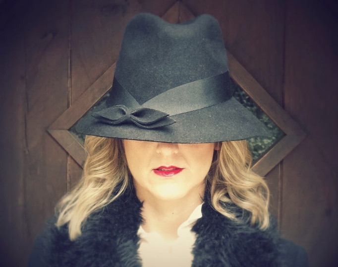 sombrero fieltro lazo seda